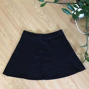 American Apparel black skater mini skirt